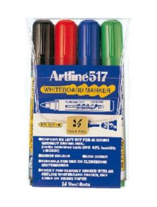 Whiteboardpenna Artline 517 rund 4set